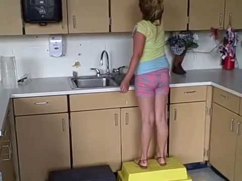 How to Safely Elevate Elementary School Students to Reach Higher Cabinets