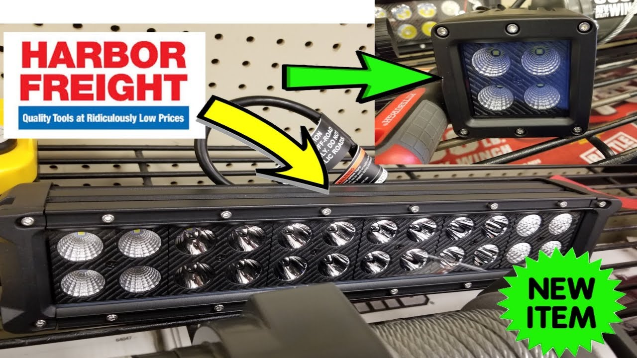 New Roadshock Led Light Bars Harbor Freight Youtube