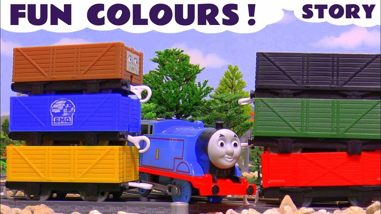 Fun Colors with Thomas and Friends and the funny Minions - Train ...