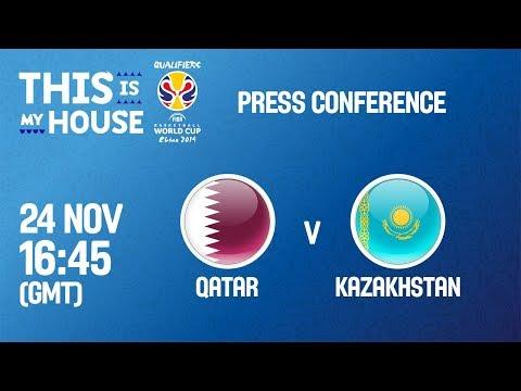 LIVE🔴 - Qatar v Kazakhstan - Press Conference - FIBA Basketball World Cup 2019 - Asian Qualifiers