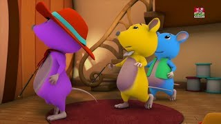 Tiga Tikus Buta | Anak-anak 3d Sajak | Baby Poems