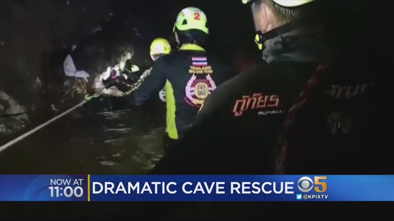 Divers Swim To Rescue Thai Youth Soccer Team Trapped In Underwater Cave