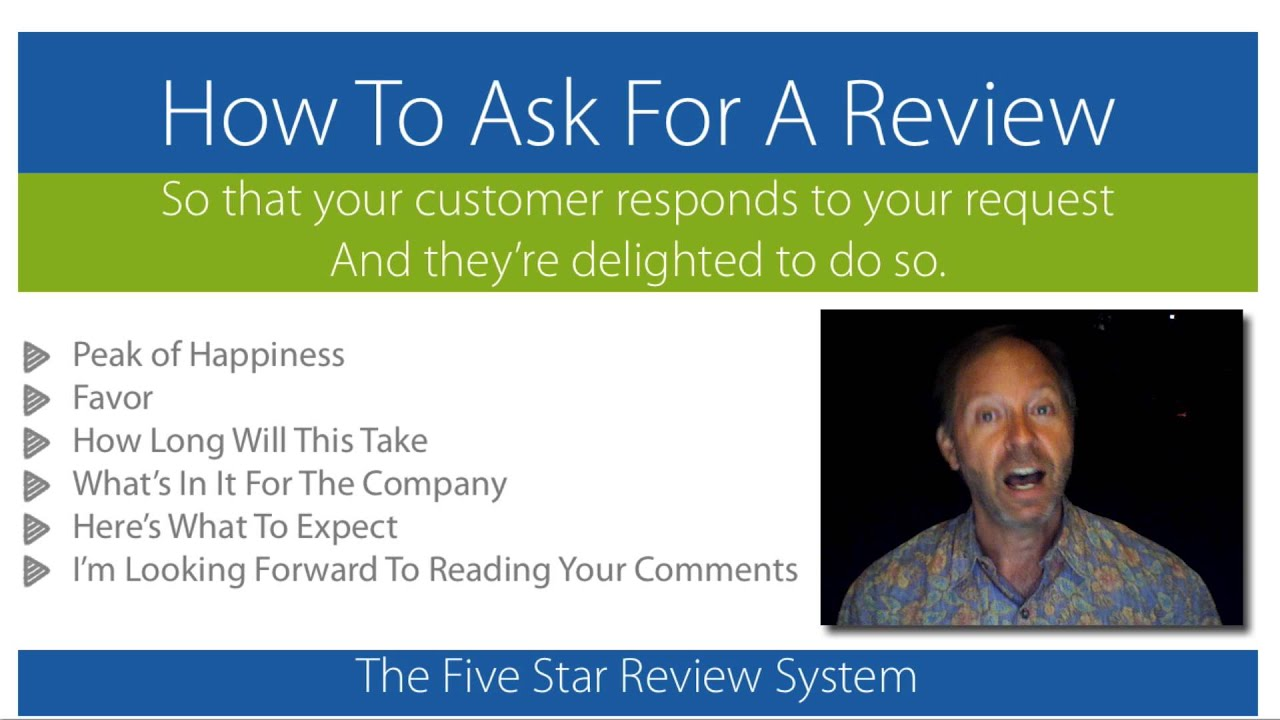 How To Ask For A Review And Get It - YouTube