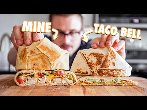 Making The Taco Bell Crunchwrap Supreme At Home | But Better