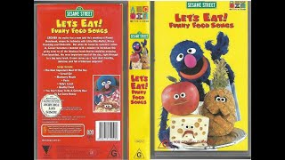 123 Sesame Street Home Video Let's Eat Funny Food Songs