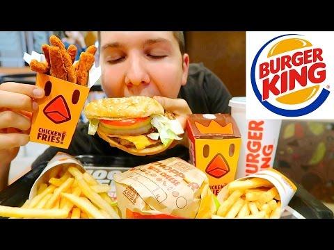 Late Night Burger King Whopper & Chicken Fries • MUKBANG