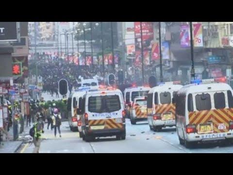 Hong Kong protests flooded city streets despite police bans