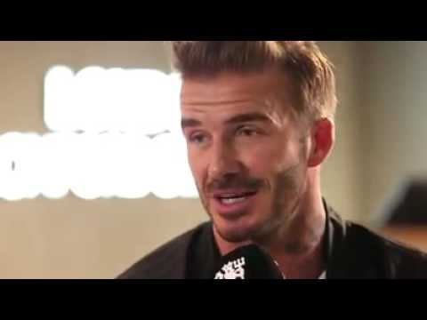 """Stormzy chats away with David Beckham. """"Can I have your boots?"""""""