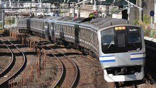 E217系 横クラY-39編成 快速君津行 船橋~津田沼通過【4K】