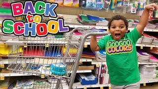 WHERE ARE MY SCHOOL SUPPLIES  BACK TO SCHOOL SHOPPING WITH GOO GOO COLORS
