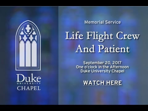 Memorial Service for Life Flight Crew and Patient