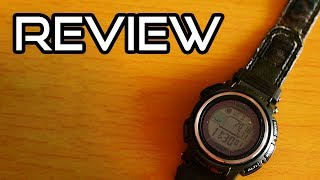 Gambar cover $260 Casio Protrek PRW-2500B-3CR (Rare Casio Watch!) Camo Tough Solar Atomic Digital Watch Review!