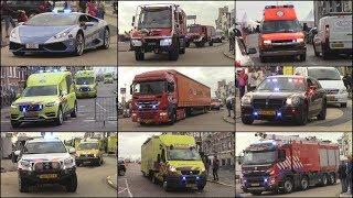 Diverse hulpdiensten vertrekken met zwaailicht en sirene vanaf rescue Vlissingen!