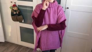 Как связать пончо для девочки