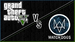 GTA V vs Watch Dogs - Side By Side