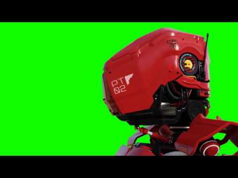 FREE HD Green Screen RED ROBOT thumbnail