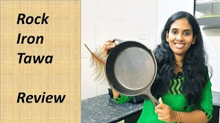pre-seasoned cast Iron fry pan ROCK TAWA review Product review in tamil
