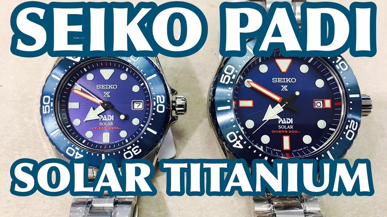 4d2337a932f7d SEIKO PADI TITANIUM SOLAR LIMITED EDITION SBDJ015 SBDN035. watch videos