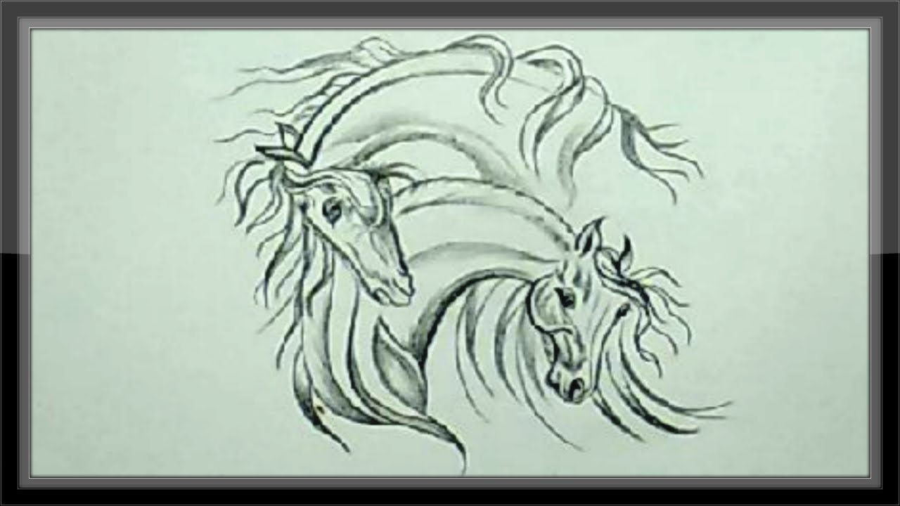 Easy pencil drawing ideas drawing horse head for beginners