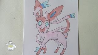[Tutorial] How to draw Sylveon from Pokemon X Y ニンフィア