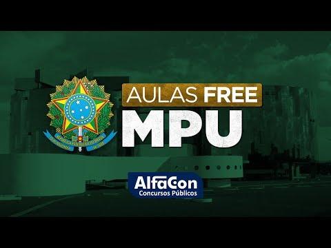 Aula Gratuita - AFO - Reta final MPU - Prof. William Notário - AO VIVO  -  Alfacon