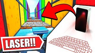 fortnite BUT with a LASER KEYBOARD! *Fortnite Creator Quiz*