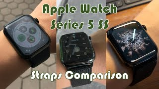 Apple Watch Series 5 Space Black Stainless Steel Straps Comparison