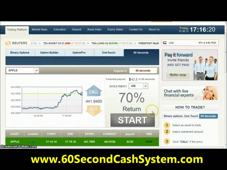 Free 60 second binary options demo account no deposit