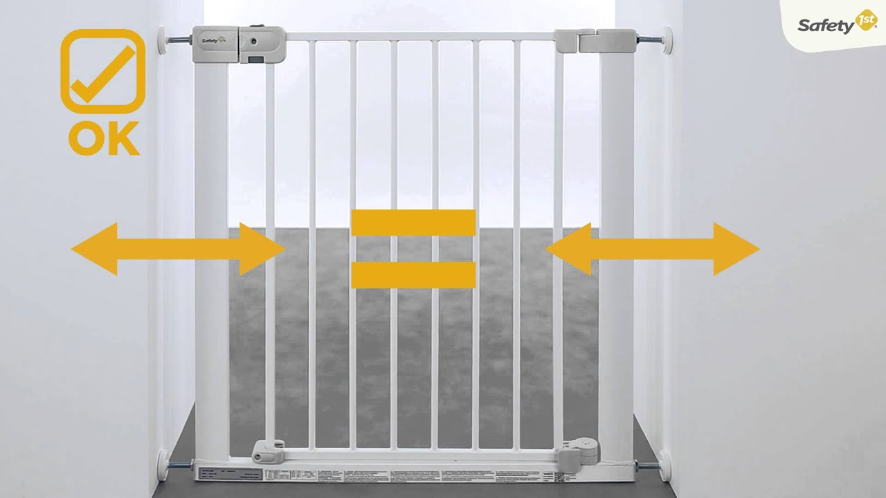 How To Install Safety 1st Auto Close Baby Gate Youtube