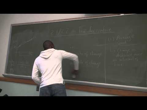 Math 201 Lecture 12 - The Derivative - an introduction