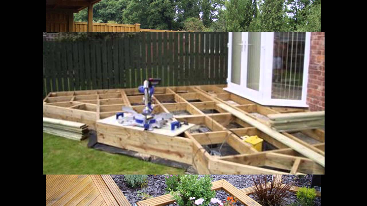 Small garden decking ideas youtube for Garden decking design ideas