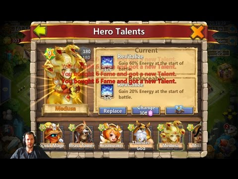 3 Years Playing No 5 Revitalize Rolling 40,000 Gems For Talents Castle Clash