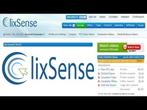 شرح طريقة الربح من موقع Clixsense + إثبات الدفع 2015