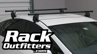 toyota prius yakima q tower round bar roof rack 10 15 by rack outfitters