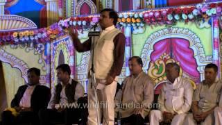 Hasya kavi Gajendra Solanki performs at Lav Kush Ramlila
