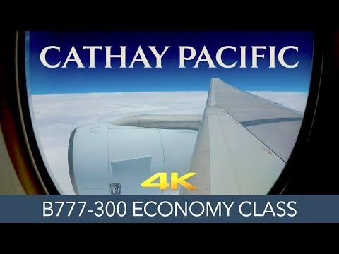 Cathay Pacific Hong Kong to Tokyo B777-300 Economy 4K Trip Report