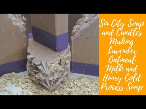 Making Lavender Oatmeal Milk and Honey Cold Process Soap SV