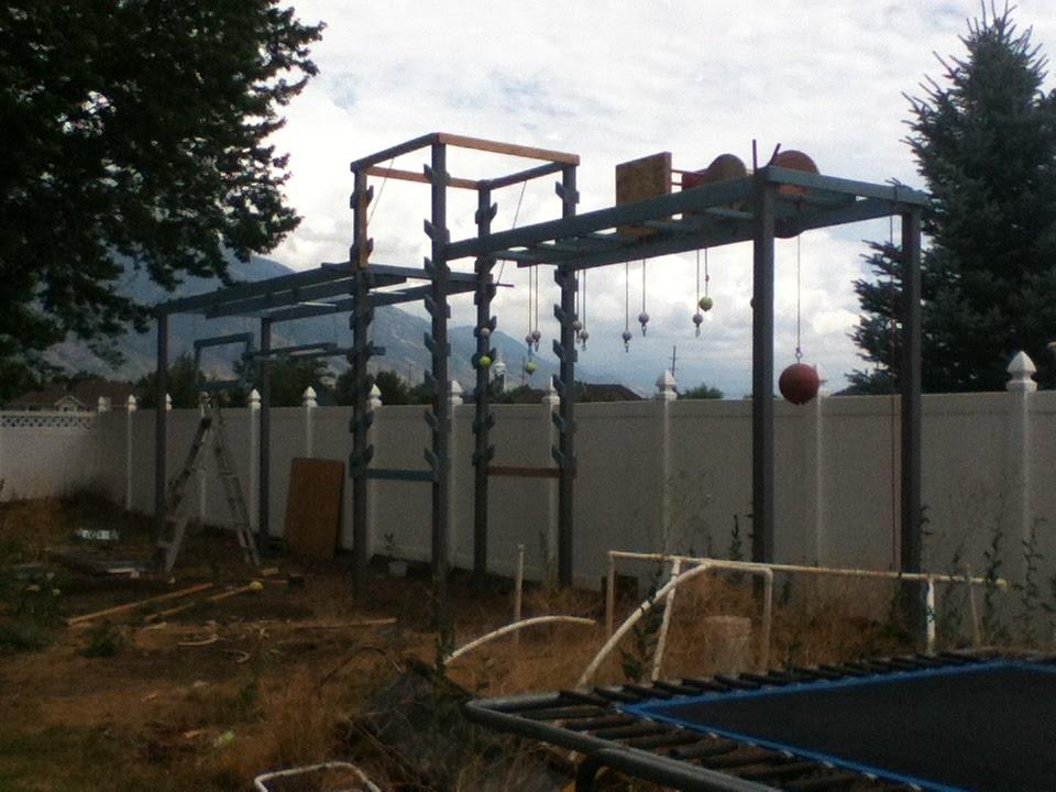 Backyard American Ninja Warrior Obstacle Course : Backyard American Ninja warrior course  YouTube