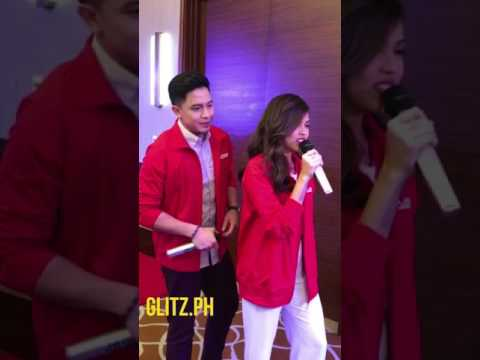 Maine Mendoza and Alden Richards sample the Platinum Karaoke