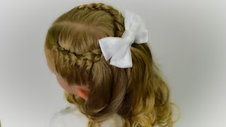 BACK TO SCHOOL🎀CUTE QUICK EASY!!! Side french braid. Quick and Easy hairstyle for girls #38