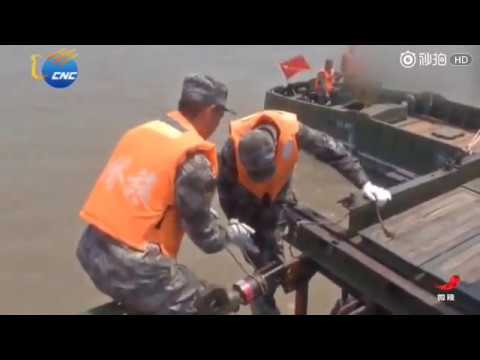 See how PLA build a 1150M bridge across Yangtze River in 27 minutes