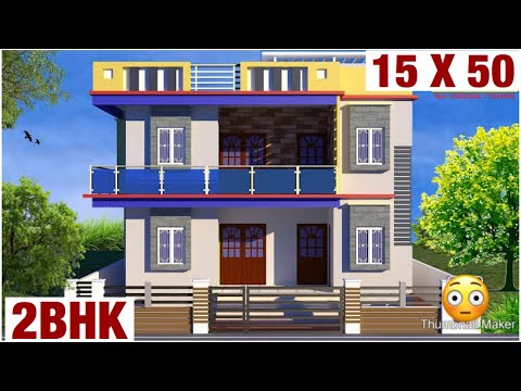 15-x-50-,-house-design-,-plan-map-,-ghar-naksha-,-map-,-car-parkinga-,-lawn-garden-,-3d-view-elevati