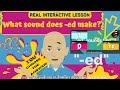 "Fun INTERACTIVE English Quiz   What does ""-ed"" sound like? (Thai sub)"