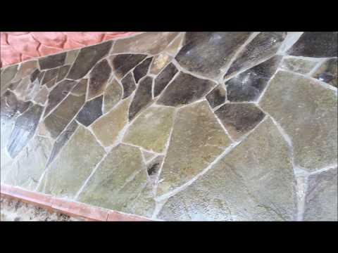 Укладка природного камня на цементный раствор