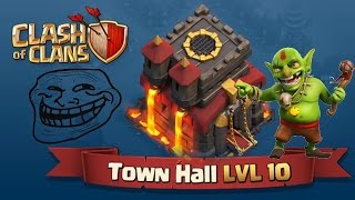 HILARIOUS TH10 TROLL BASE!! (FUNNY REPLAYS AND FAILS!)
