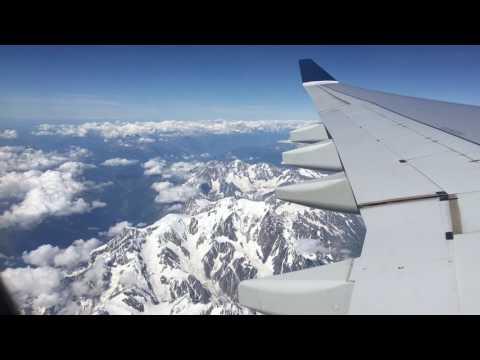 Saudi Airlines GVA-RUH Economy Class, Swiss Alps