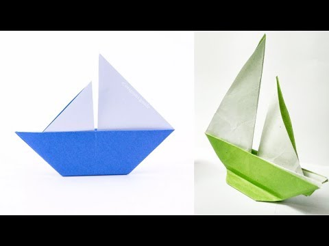 How to Make Easy Paper Sailboat - Easy Origami Paper Boat Tutorial For Kids