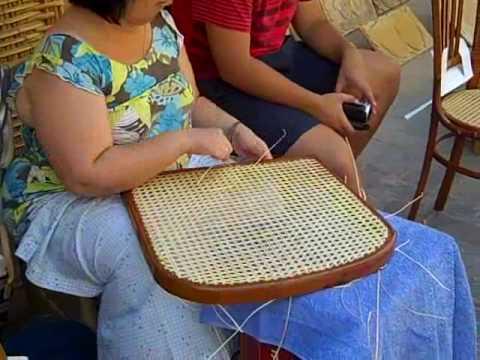 Sillas de rejilla su confecci n youtube - Reparacion de sillas de rejilla ...