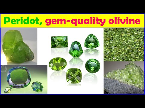 Peridot, Gem-quality Green Variety Of Olivine And Silicate Mineral