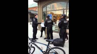 Gateway mall security use physical aggression and arrest man for no reason.